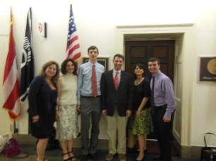 Decoding Dyslexia - NJ and Will met with Chris from former Congressman's Rush Holt's office