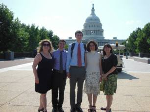 Decoding Dyslexia - NJ and Will in front of the U.S. Capitol
