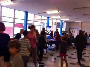 Attendees enjoying the resource fair!